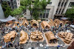 """第八届同济大学建造节暨2014年""""华城杯""""纸板建筑设计建造竞赛 Eighth Tongji construction Festival 2014 """" China City Cup"""" cardboard architectural design and construction competition"""