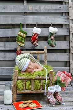 Newborn Christmas Session From Unique Design Studios Photography