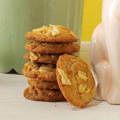 Crispy Potato Chip Cookies Recipe -If you like a sweet-and-salty treat, this cookie is perfect! They quickly bake to a crispy, golden brown...and they disappear even faster! —Monna Lu Bauer, Lexington, Kentucky