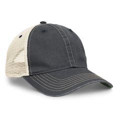 Pacific Headwear Navy/Tan Vintage Trucker Mesh Cap