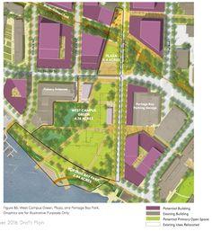 Conceptual open space plans for West Campus. (University of Washington)