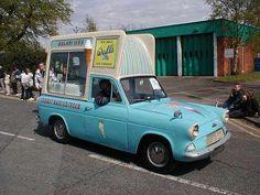 1960s Ford Anglia 105E ice cream van