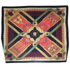 Foulard Hermès Brins d Or Noir Cachemire d occasion réf. A156238 2b99bdc06f7