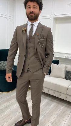 Grey Suit For Men, Dress Suits For Men, Black Suits, Suits For Women, Mens Suits, Man Suit Wedding, Blazer Outfits Men, Slim Fit Suits, Formal Suits