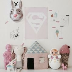 Inspired by the most gorgeous bunny from that my Supergirl is obsessed with we're having a pink moment in her room 💕💕💕💕 Nursery Room, Boy Room, Kids Bedroom, Girl Nursery, Baby Deco, Deco Kids, Kids Room Design, Nursery Inspiration, Little Girl Rooms