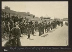 Royal Egyptian Band playing at the Nebi Mousa procession, 1918. LC-DIG-ppmsca-13291-00072 (digital file from original, page 25, no. 72)