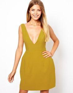 Image 1 ofASOS Deep V Tulip Dress