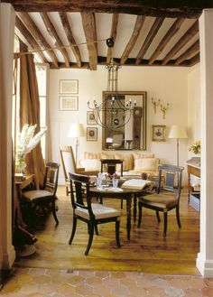 Love those wooden beams!