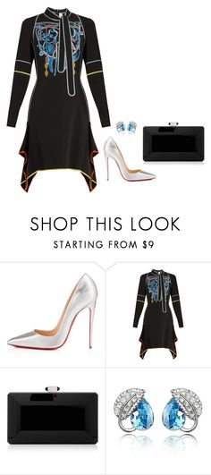 """""""Sem título #2713"""" by mprocedi ❤ liked on Polyvore featuring Christian Louboutin, Peter Pilotto, Judith Leiber and WithChic"""