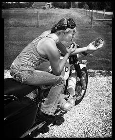 bikes-n-girls: Biker girl Bmw Boxer, Lady Biker, Biker Girl, Bmw Scooter, Bmw Motorcycles, Culottes, N Girls, Biker Chick, Harley Davidson