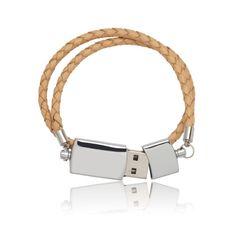 He encontrado este interesante anuncio de Etsy en https://www.etsy.com/es/listing/81087154/nordic-leather-usb-bracelet
