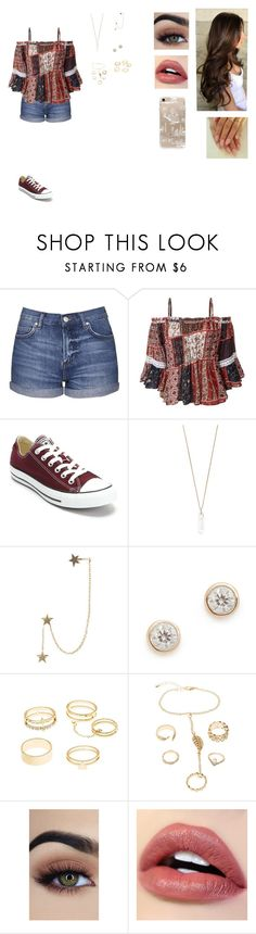 """""""Teenage dream"""" by natalia-alve-niel ❤ liked on Polyvore featuring Topshop, LE3NO, Converse, Forever 21, Zimmermann, Adina Reyter, Charlotte Russe and Rifle Paper Co"""