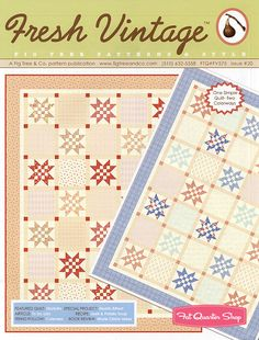 Fresh Vintage Issue #20 Quilt Pattern Fig Tree Quilts - Fat Quarter Shop