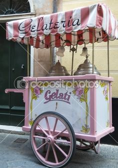 Vintage ice cream cart- cant wait to have one of these at our wedding!!