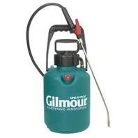 TANK SPRAYER, Size: 1.5 GALLON (Catalog Category: Lawn & Garden:LAWN AND GARDEN EQUIPMENT) by GILMOUR MFG COMPANY P. $52.11. Instant on/off thumb control for easier spot-spraying. Can be used to strip wallpaper or apply deck stains and wood preservatives. Wand storage clips on pump handle and carrying handle. Easy to clean in line filter. Extra wide mouth opening for easy fill and cleaning. Fast pressurizing 10 non-corroding polymer pump/wand storage clips on pump ha...