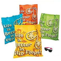 One Dozen Life Is Better In Flip Flops Tote Bags #34/2074
