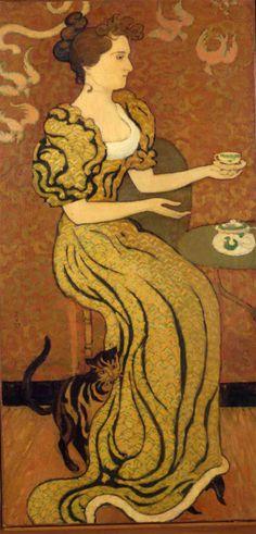 Maurice Denis (1870-1943) - Portrait de Madame Ranson au Chat, c1892