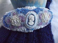 Beaded Barrette  Blue Belle by Ellewynn on Etsy,