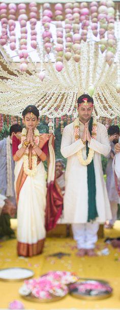 A stunning lotus mandap stole the show at this wedding we organized at The Taj Westend in Bangalore #TajWestend #WeddingPlanner #IndianWeddings