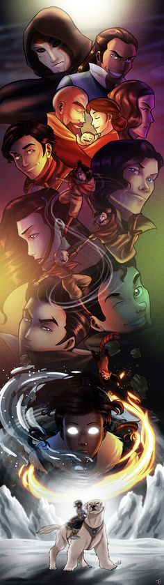 The Legend of Korra by TiuanaRui.deviantart.com. I just watched the season finale. My mind might have imploded.