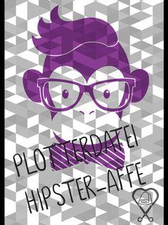 Gestatten - Hipster McAffe mein Name. Meinen Bart kann man mitplotten, muss man aber nicht :-)  Ihr erhaltet bei Kauf ein Zip-File mit dem Motiv als PDF, DXF, SVG und PNG für den privaten...
