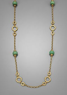 """LAUREN BY RALPH LAUREN 36"""" Triple Row Chain and Bead Necklace"""