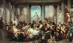 """Romans during the Decadence"" 1847 - oil on canvas 472 x 772 cm - by Thomas Couture (1815-1879) - Musée d'Orsay"