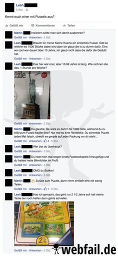 Ein langwieriges Puzzle - Facebook Fail des Tages 23.09.2016 | Webfail - Fail Bilder und Fail Videos