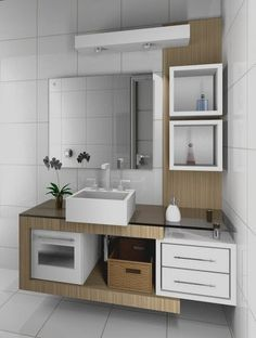 Amazing bathroom storage ideas, towel storage boxes and shelves, bathroom sink cabinet design and other smart storage furniture design 2019 Bathroom Furniture, Bathroom Interior, Bathroom Ideas, Kitchen Cabinets Design Layout, Wc Design, Geometric Furniture, Furniture Design, Washbasin Design, Modern Home Interior Design