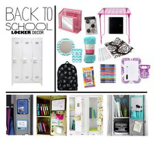 """Back To School Locker Decor"" by georgeluz ❤ liked on Polyvore featuring interior, interiors, interior design, home, home decor, interior decorating, BIC, Paper Mate, BackToSchool and lockerdecor"