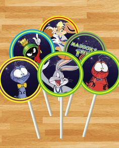 PRINTABLE Space Jam Cake Toppers  LoonyToons by NoteworthyCreative