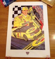 1998 Steve Park Pennzoil Nascar Poster - Sam Bass - Never Displayed!