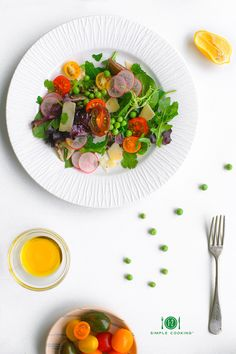 Spring Salad with Peas and Radishes from @1-2 Simple Cooking