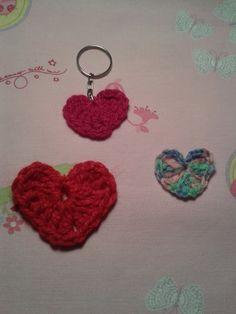 Tutorial: Corazón tejido a crochet o ganchillo plano.