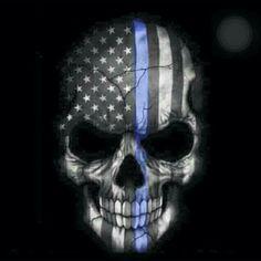 Thin blue line skull