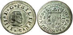 SIXBID.COM - Experts in numismatic Auctions Lot 173. 1664. Felipe IV. Segovia. ¶ . 16 maravedís. (Cal. 1514) (Jarabo-Sanahuja M530). Pátina verde. Bella. 4,84 g. EBC.