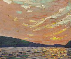 Tom Thomson, Smoke Lake, 1915. Oil on wood panel, 21.5 × 26.9 cm. McMichael Canadian Art Collection, Kleinburg, Ontario.