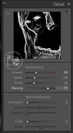 sharpening layer mask in lightroom