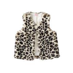 Toddler Girl Design 365 Faux-Fur Vest, Size: 4T, White Oth