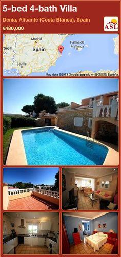 5-bed 4-bath Villa in Denia, Alicante (Costa Blanca), Spain ►€480,000 #PropertyForSaleInSpain