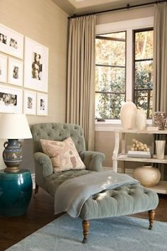 perfect for cozy, sunday reading. love the chair.