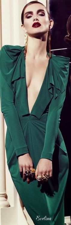 Green, shoulder pads, 80's- what's not to love!