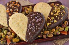 Pistachio Shortbread Cookies by SugarHero!