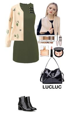 """""""Outfit LUCLUC"""" by eliza-redkina ❤ liked on Polyvore featuring Rare London, Anastasia Beverly Hills, Maybelline, MAC Cosmetics and Givenchy"""