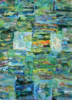 Above The Bog Quilt by Jane LaFazio. Stunning...look at the details!