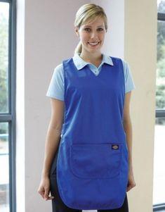 Medium Navy Ladies Premium Tabard Work Wear Overall Apron