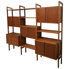 Mid-Century Modern Teak Wall Unit or Storage, 1950s Scan Style OFFERED BY DEJA VU DECOR $2,495