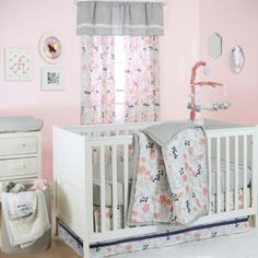The Peanut Shell® Floral Crib Bedding Collection in Coral - BedBathandBeyond.com