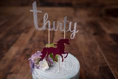 """Thirty (30) Cake Topper {COLOURS CUSOTMIZABLE} """" - Photo Prop, Anniversary, Birthday, Wedding, Retirement Party, Dirty Thirty by CutPartySupplies on Etsy 30 Cake Topper, Cake Toppers, Thirty 30, Retirement Parties, Photo Props, Anniversary, Colours, Birthday, Handmade Gifts"""