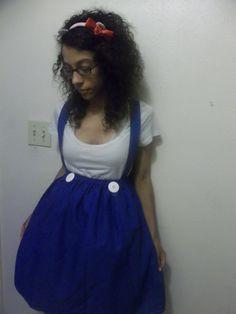 Hello Kitty Costume  Blue Jumper Dress  by SweetDreamsPrincess, $45.00